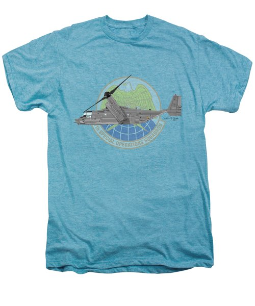 Cv-22b Osprey 7sos Men's Premium T-Shirt by Arthur Eggers