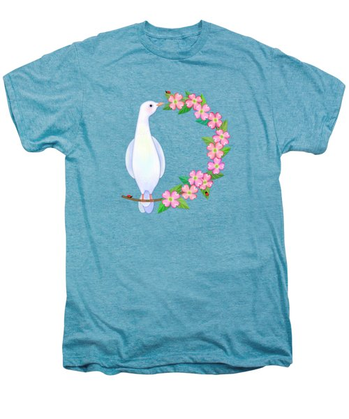 D Is For Dove And Dogwood Men's Premium T-Shirt by Valerie Drake Lesiak