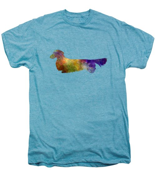 Dachshund Long Haired In Watercolor Men's Premium T-Shirt