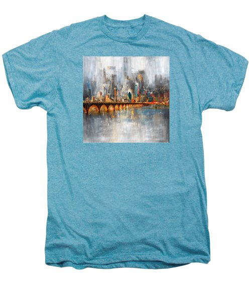 Dallas Skyline 217 1 Men's Premium T-Shirt by Mawra Tahreem