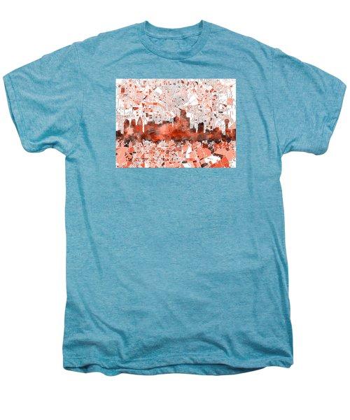 Dallas Skyline Map Red Men's Premium T-Shirt