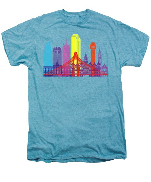 Dallas Skyline Pop Men's Premium T-Shirt by Pablo Romero