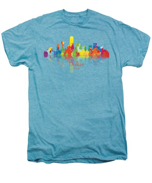 Dallas Texas Tshirts And Accessories Art Men's Premium T-Shirt by Loretta Luglio