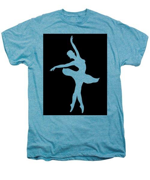 Dancing Ballerina White Silhouette Men's Premium T-Shirt