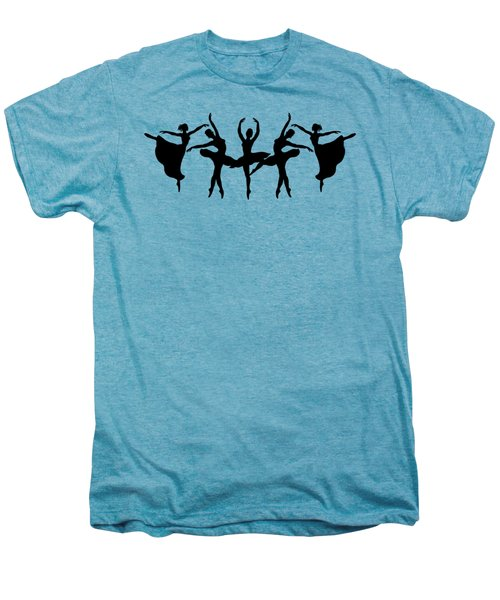 Dancing Ballerinas Silhouette Men's Premium T-Shirt