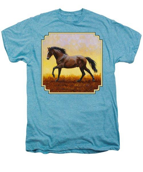 Dark Bay Running Horse Yellow Men's Premium T-Shirt