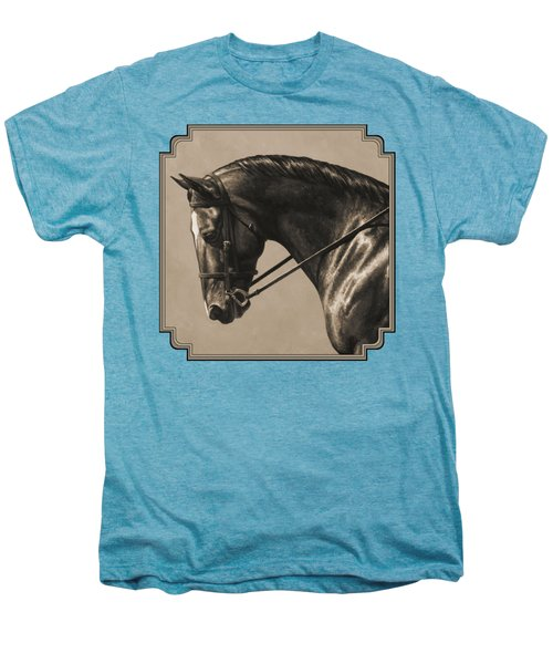Dark Dressage Horse Aged Photo Fx Men's Premium T-Shirt