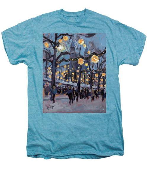 December Lights At The Our Lady Square Maastricht 1 Men's Premium T-Shirt by Nop Briex