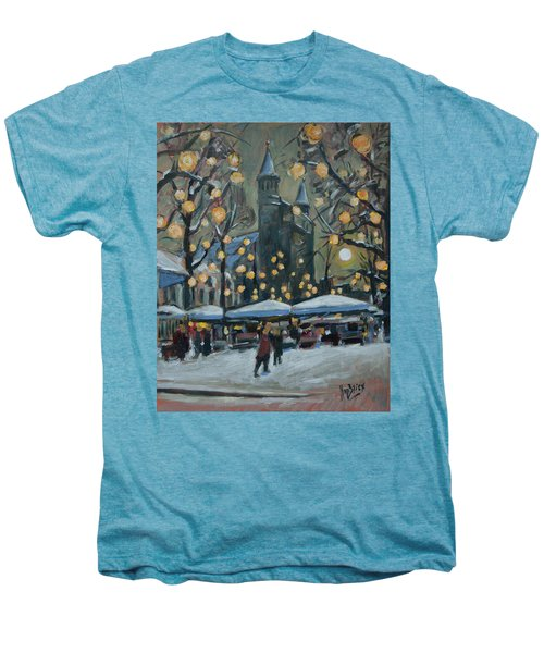 December Lights At The Our Lady Square Maastricht 2 Men's Premium T-Shirt by Nop Briex