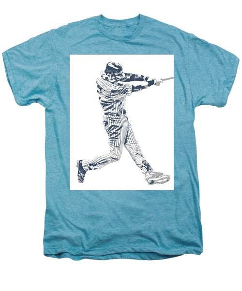 Derek Jeter New York Yankees Pixel Art 10 Men's Premium T-Shirt