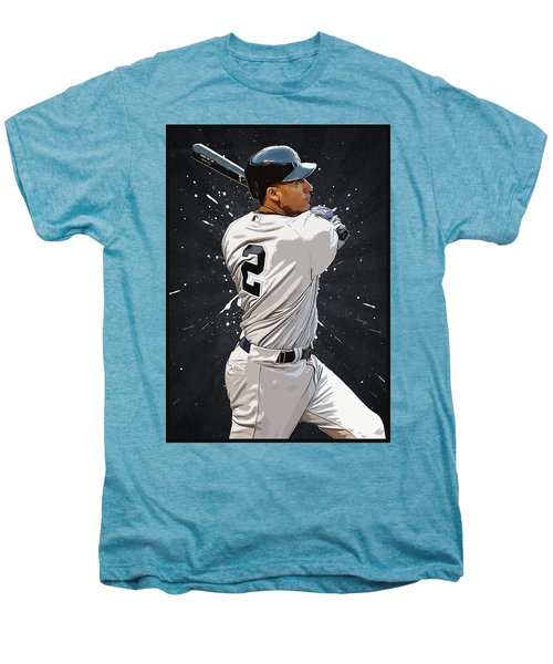 Derek Jeter Men's Premium T-Shirt by Semih Yurdabak