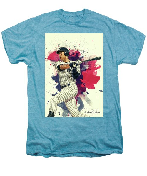 Derek Jeter Men's Premium T-Shirt by Taylan Apukovska