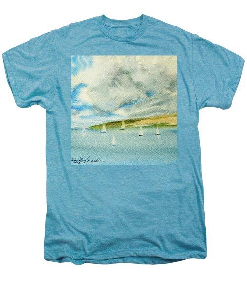 Dark Clouds Threaten Derwent River Sailing Fleet Men's Premium T-Shirt