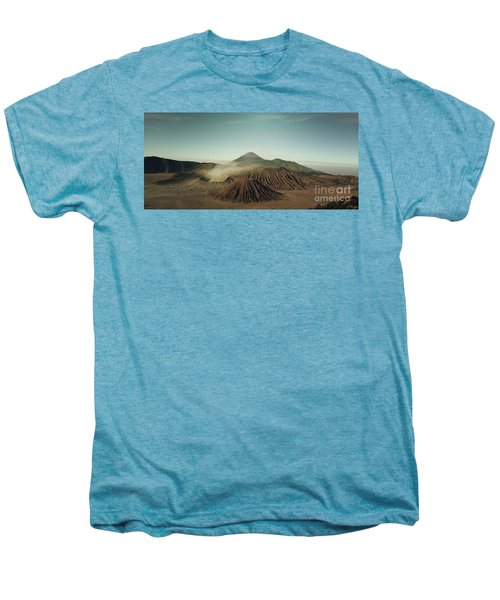 Men's Premium T-Shirt featuring the photograph Desert Mountain  by MGL Meiklejohn Graphics Licensing