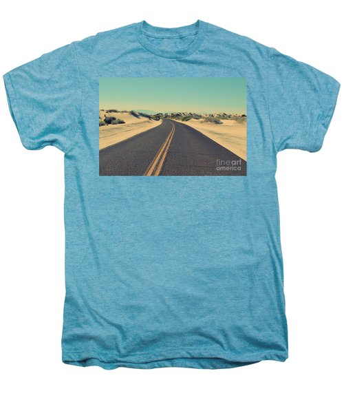 Men's Premium T-Shirt featuring the photograph Desert Road by MGL Meiklejohn Graphics Licensing