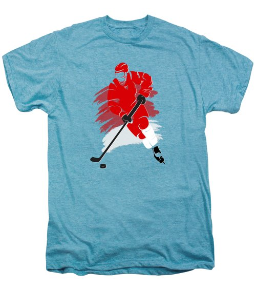 Detroit Red Wings Player Shirt Men's Premium T-Shirt by Joe Hamilton