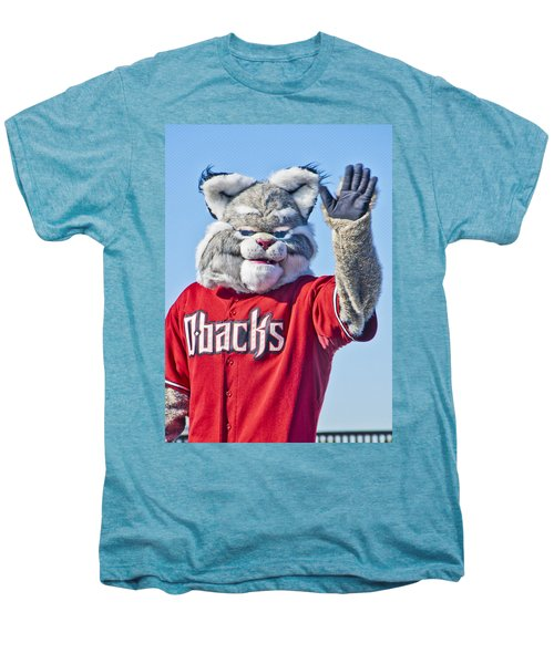 Diamondbacks Mascot Baxter Men's Premium T-Shirt by Jon Berghoff