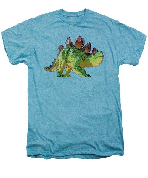Dino Stegosaurus Men's Premium T-Shirt