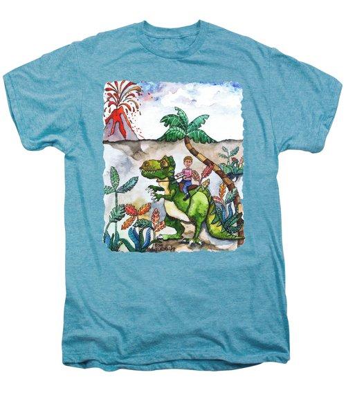 Dinosaur Rider Men's Premium T-Shirt
