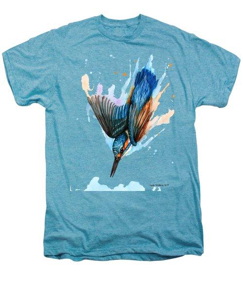 Diving Kingfisher Men's Premium T-Shirt