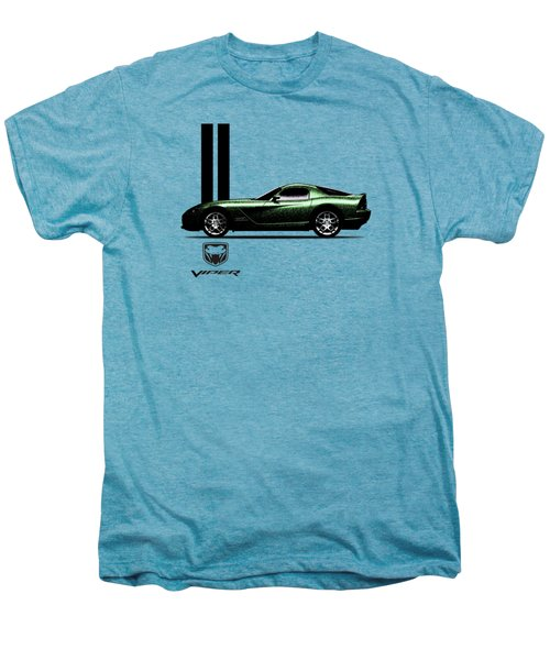Dodge Viper Snake Green Men's Premium T-Shirt by Mark Rogan