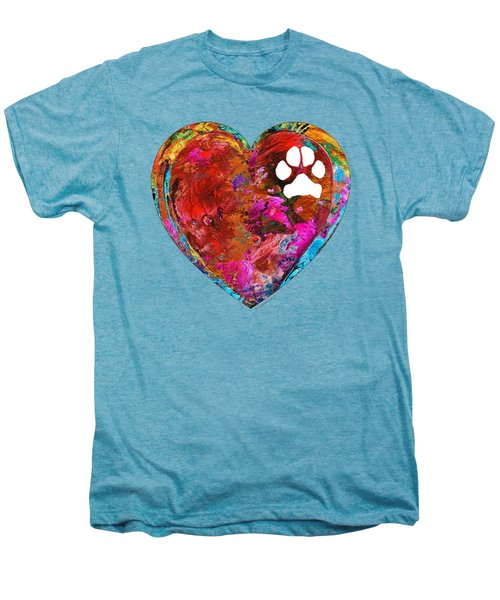 Dog Art - Puppy Love 2 - Sharon Cummings Men's Premium T-Shirt