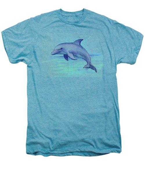 Dolphin Watercolor Men's Premium T-Shirt