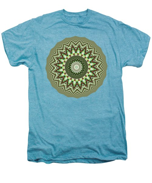 Dome Of Chains Mandala By Kaye Menner Men's Premium T-Shirt by Kaye Menner