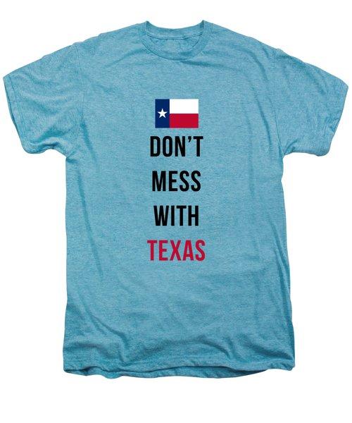 Don't Mess With Texas Tee Blue Men's Premium T-Shirt