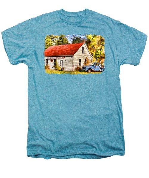 Men's Premium T-Shirt featuring the painting Door County Gus Klenke Garage by Christopher Arndt