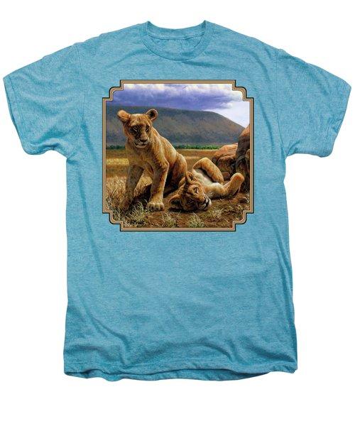 Double Trouble Men's Premium T-Shirt by Crista Forest