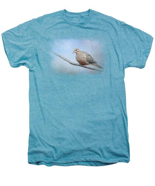 Dove In The Snow Men's Premium T-Shirt by Jai Johnson