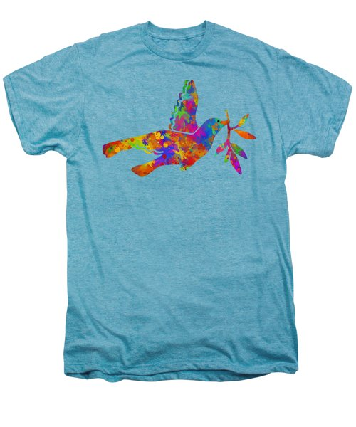 Dove With Olive Branch Men's Premium T-Shirt by Christina Rollo