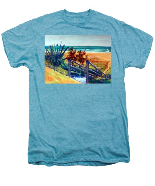 Down The Stairs To The Beach Men's Premium T-Shirt by Winsome Gunning