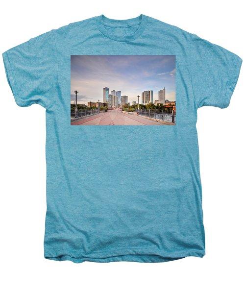 Downtown Austin Skyline From Lamar Street Pedestrian Bridge - Texas Hill Country Men's Premium T-Shirt by Silvio Ligutti