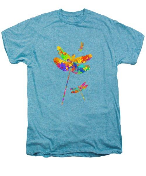 Dragonfly Watercolor Art Men's Premium T-Shirt
