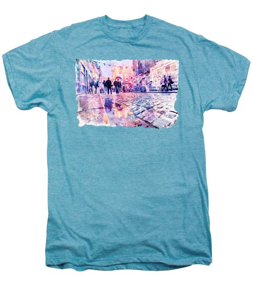 Dublin Watercolor Streetscape Men's Premium T-Shirt