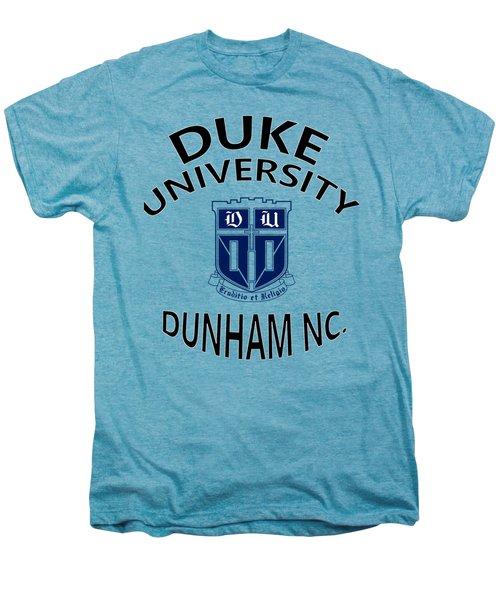 Duke University Dunham N C  Men's Premium T-Shirt by Movie Poster Prints