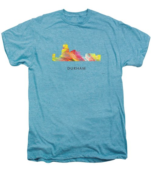 Durham North Carolina Skyline Men's Premium T-Shirt by Marlene Watson