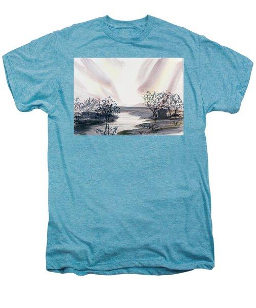 Dusk Creeping Up The River Men's Premium T-Shirt