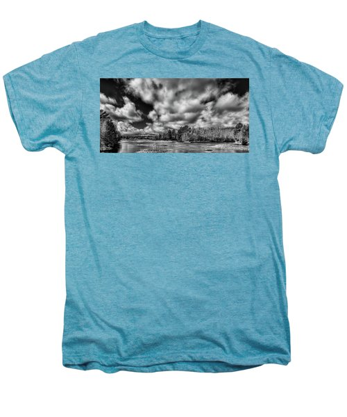 Men's Premium T-Shirt featuring the photograph Dusting Of Snow On The River by David Patterson
