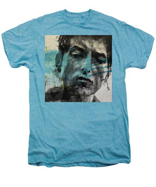 Dylan - Retro  Maggies Farm No More Men's Premium T-Shirt by Paul Lovering
