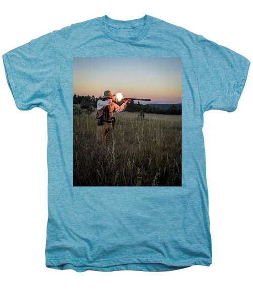 Early 1800's Flintlock Muzzleloader Blast Men's Premium T-Shirt