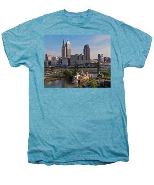 Early Morning Transport On The Cuyahoga River Men's Premium T-Shirt