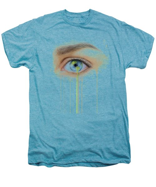 Earth In The Eye Crying Planet Men's Premium T-Shirt