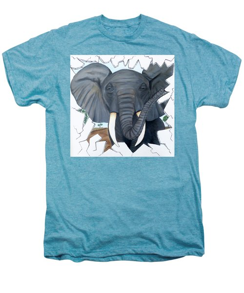Eavesdropping Elephant Men's Premium T-Shirt