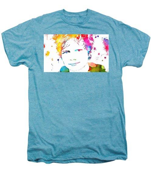 Ed Sheeran Paint Splatter Men's Premium T-Shirt by Dan Sproul