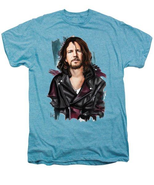 Eddie Vedder Men's Premium T-Shirt by Melanie D