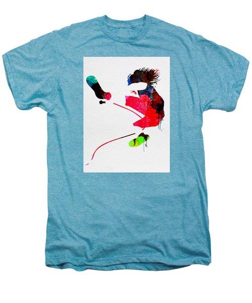 Eddie Watercolor Men's Premium T-Shirt by Naxart Studio