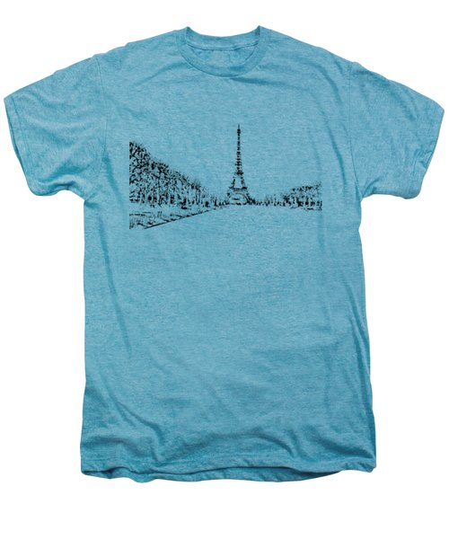Eiffel Tower Men's Premium T-Shirt by ISAW Gallery